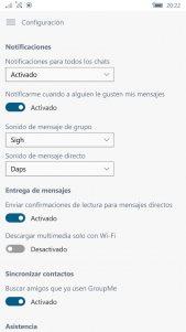 GroupMe se actualiza con sonido personalizado para las notificaciones