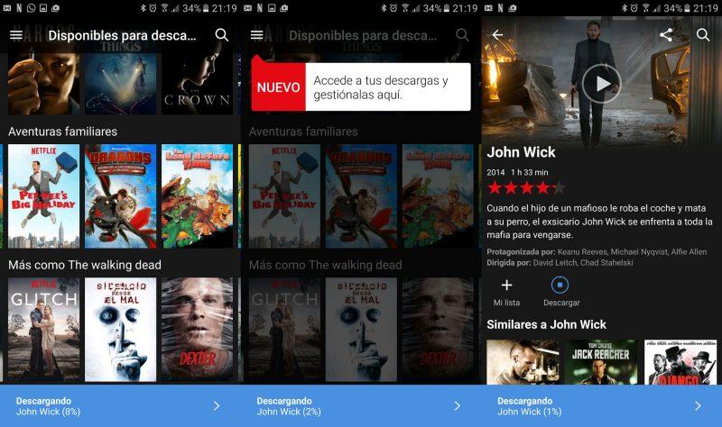 Netflix ya permite la descarga de películas y series, pero aún no en Windows