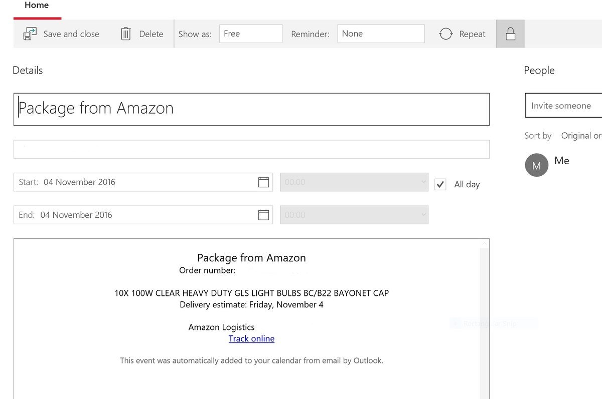 outlook-amazon-automatic-event-screenshot