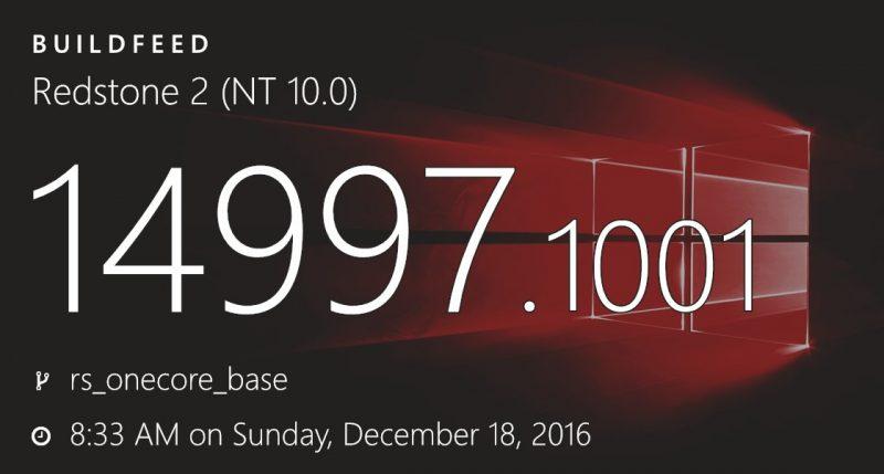 Build 14997 de Windows 10 filtrada en la web