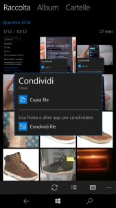 La nueva interfaz de compartir llega a Fotos de Microsoft en el Anillo rápido y Release Preview de Windows 10 Mobile