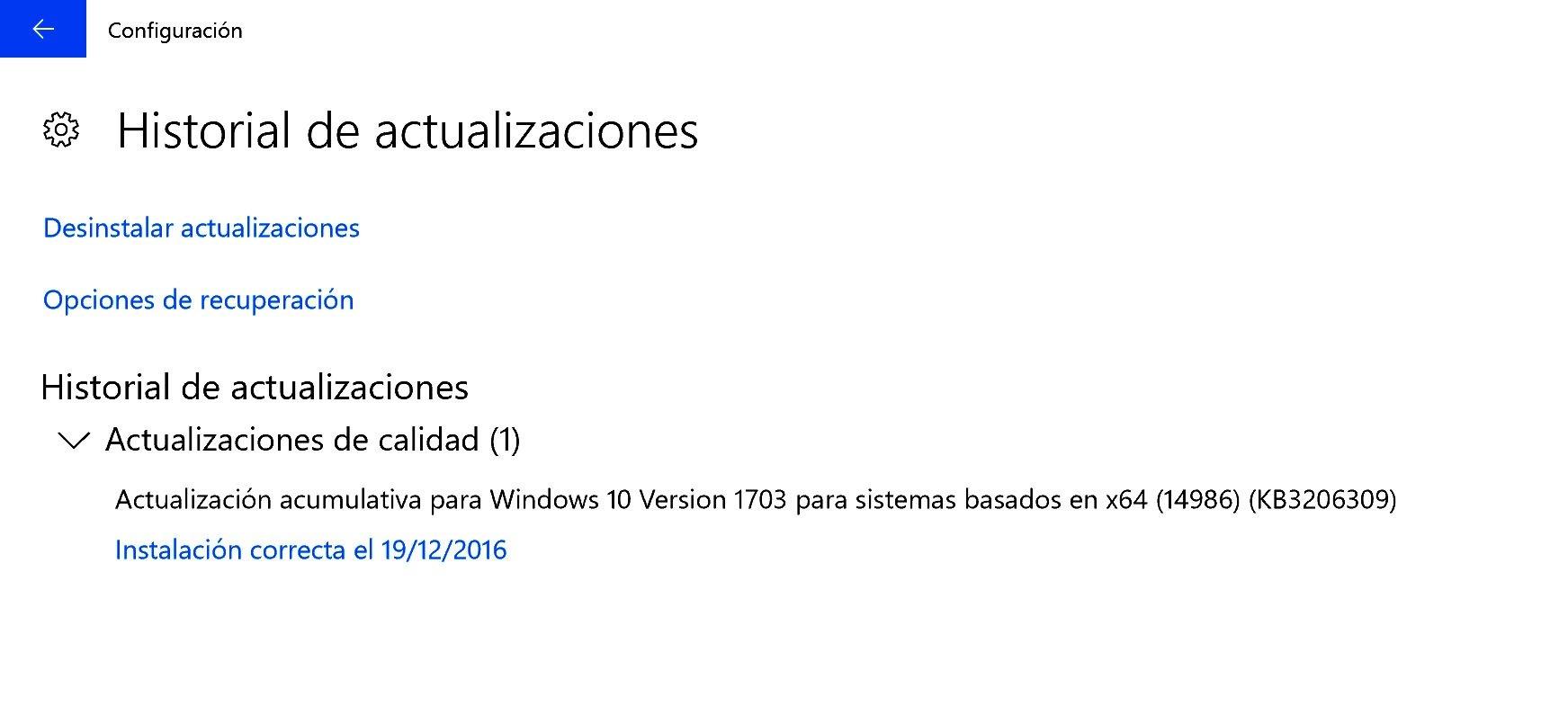 Microsoft lanza una actualización acumulativa para Windows 10 PC en el anillo rápido (KB3206309)