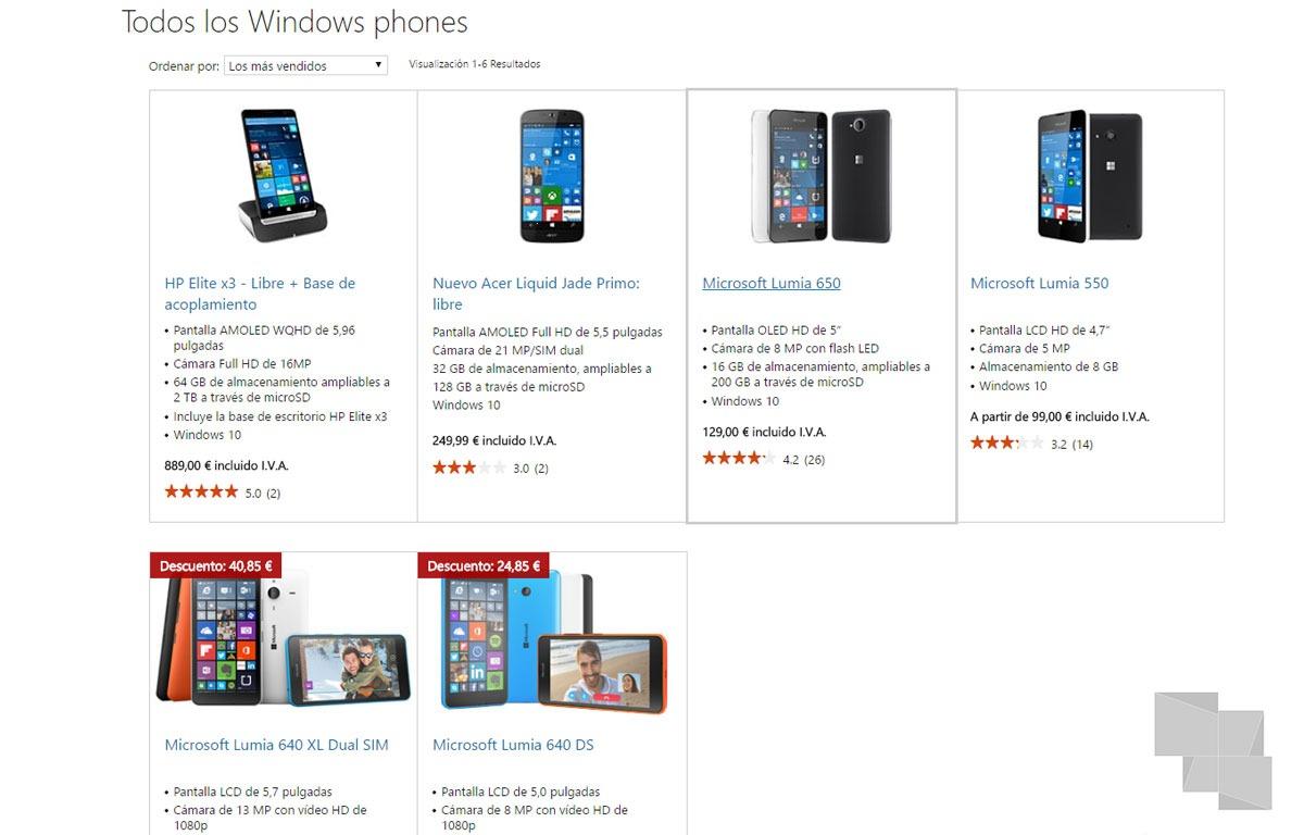 La tienda de Microsoft España ya no vende ningún Lumia