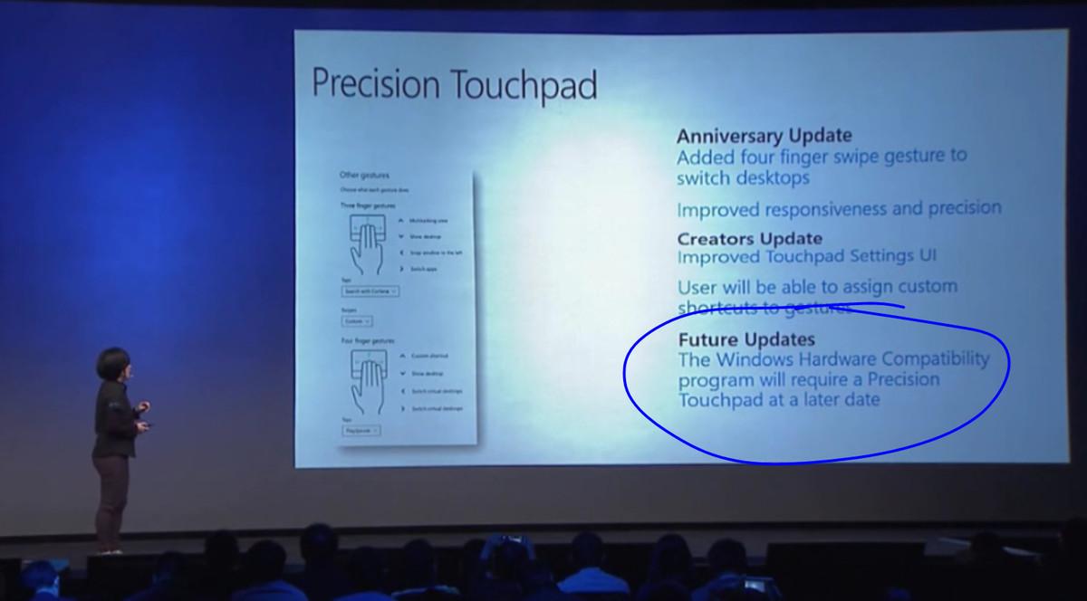 Los touchpads de precisión podrían ser requisito obligatorio para PCs en futuras versiones de Windows 10