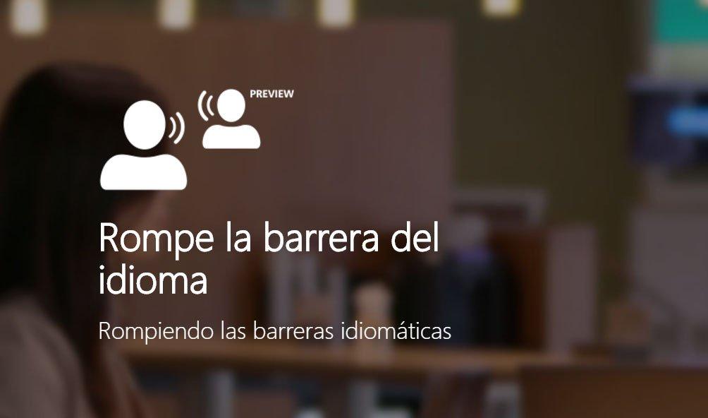 Traductor de Microsoft ahora con traducción en vivo para grupos en varios idiomas