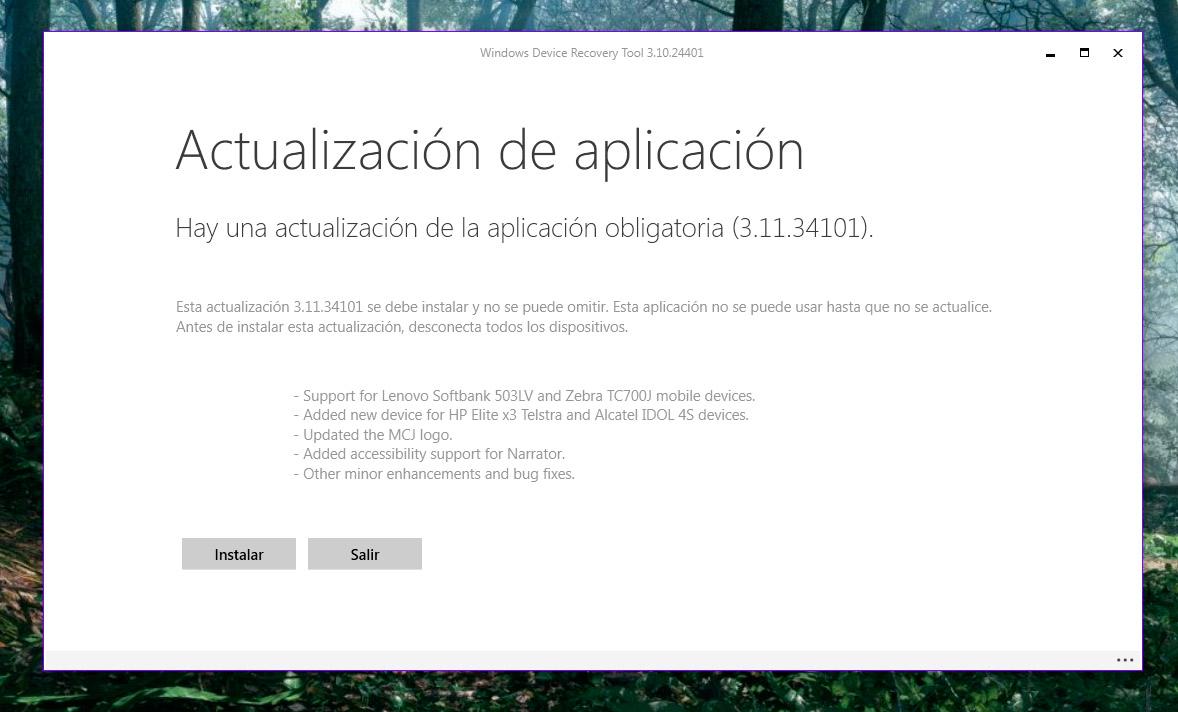 Windows Device Recovery Tool añade soporte para el Alcatel Idol 4S y más terminales