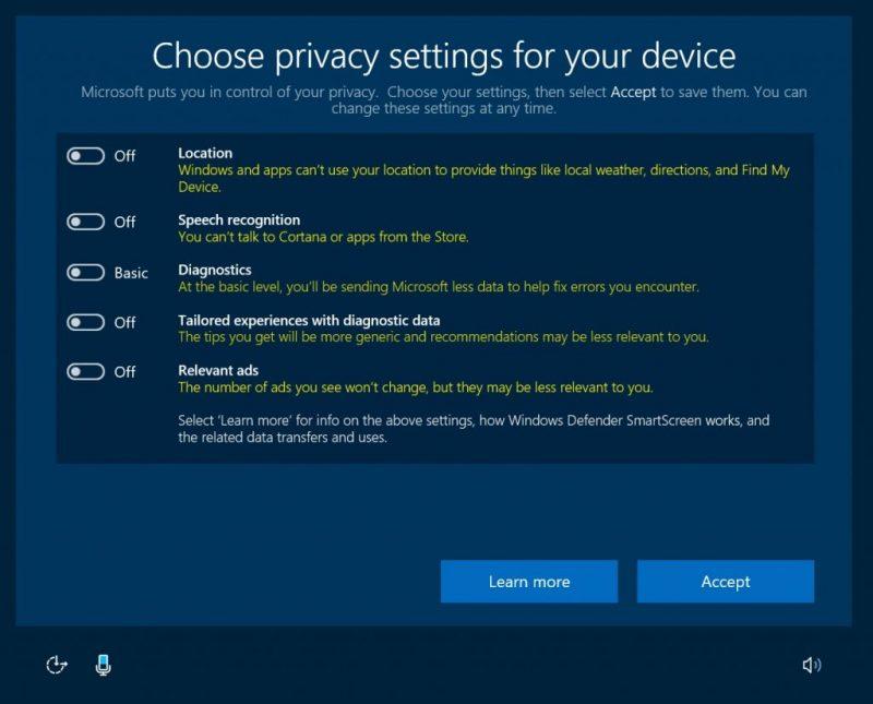 Microsoft reitera su compromiso con la privacidad en la Creators Update de Windows 10