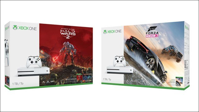 Packs Xbox One S con Halo Wars 2 y Forza Horizon 3