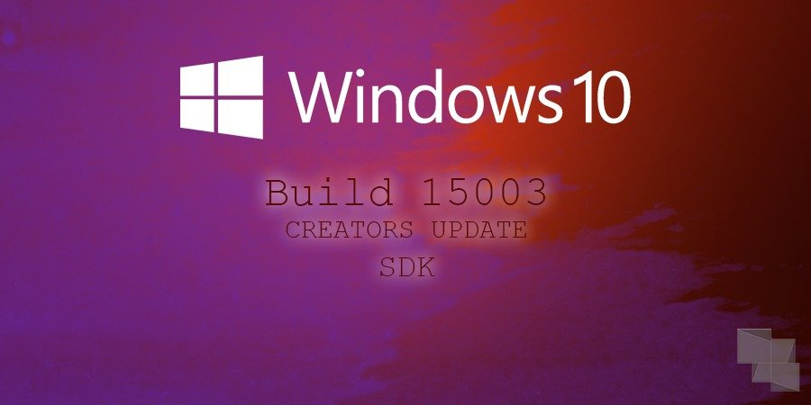 Microsoft lanza el SDK Preview de Windows 10 de la Build 15003