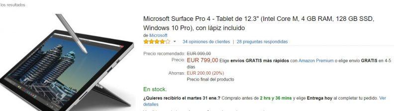 Consigue la Surface Pro 4 con estas ofertas de Amazon