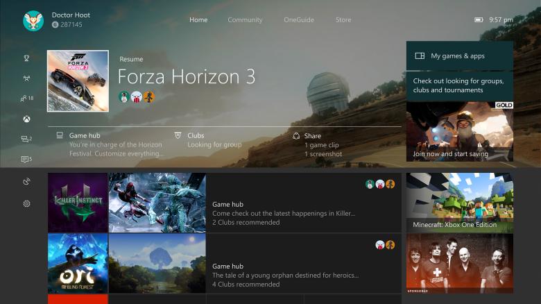 La Creators Update para Xbox One comienza a llegar a los primeros Insider cargada de novedades
