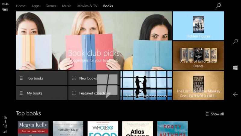 Books, la tienda para libros que prepara Microsoft para Windows 10