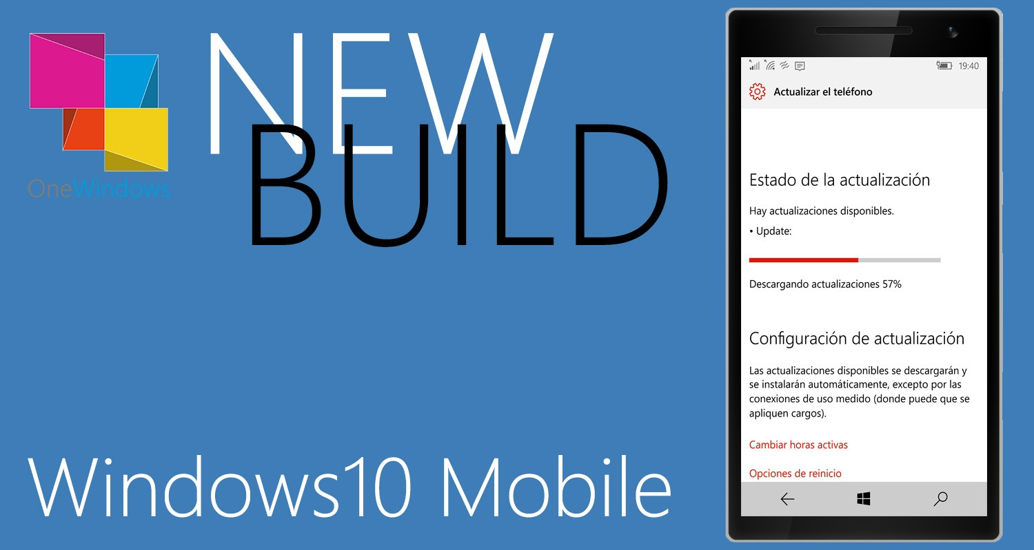 Build 15042 para PC y 15043 para móvil disponible en el anillo rápido de Windows 10