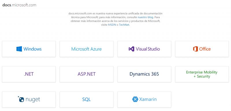 Microsoft lanza sitio web que unifica toda la documentación para desarrolladores