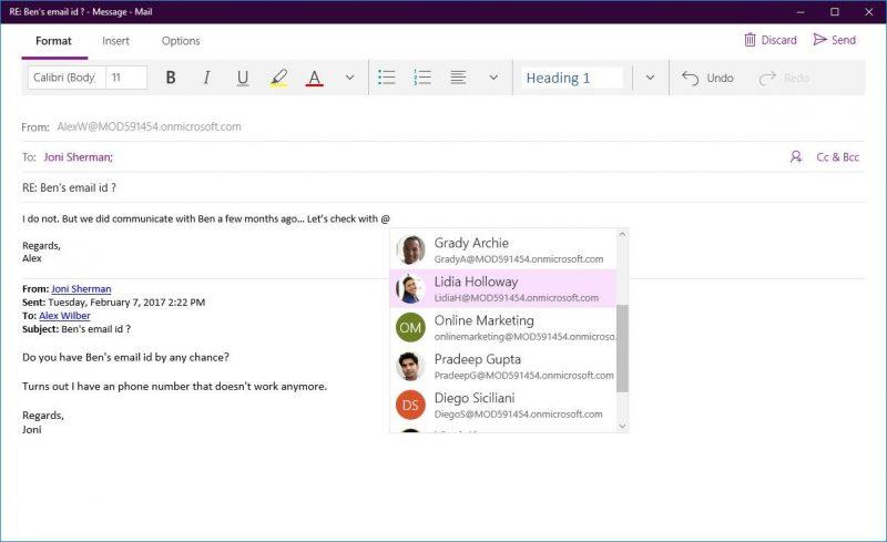Microsoft anuncia novedades para Correo y Calendario de Outlook en Windows 10
