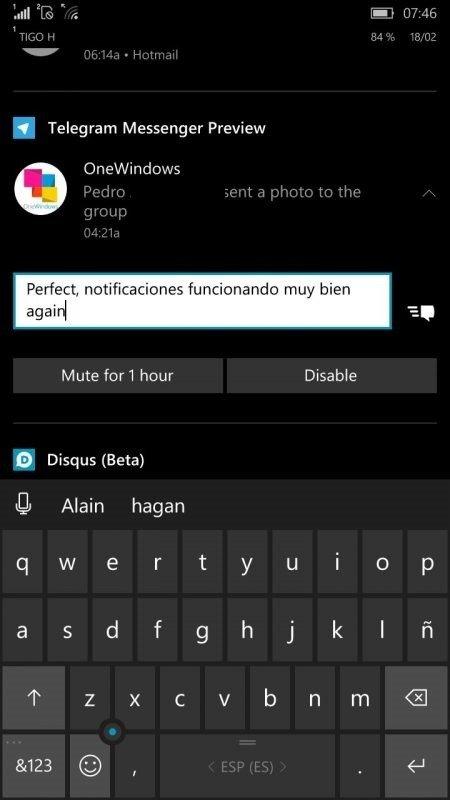 Ahora aparece la versión Preview de Telegram Messenger en la Tienda de Windows 10 [Actualizado]