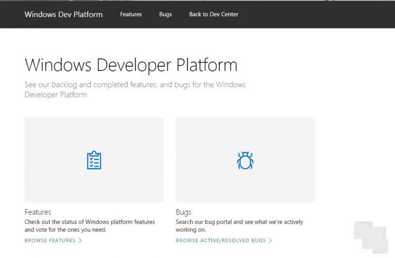 Microsoft lanza su backlog de funcionalidades y bugs de Windows al público