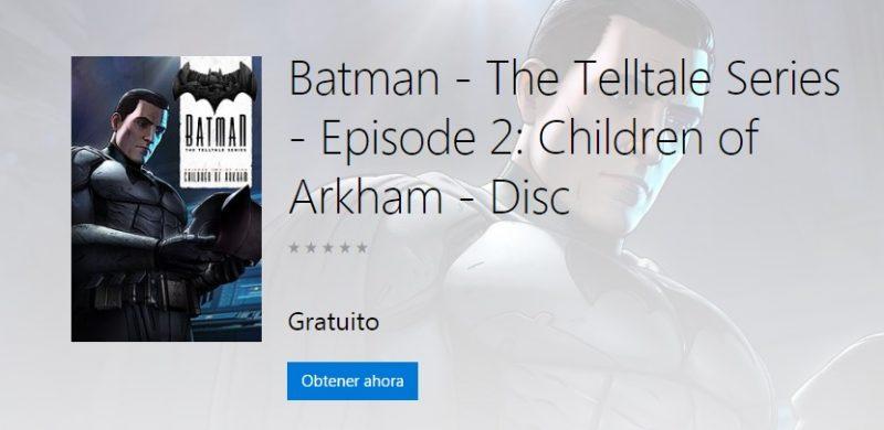 Batman: The Telltale Series - Episodio 2, disponible gratis para Xbox One