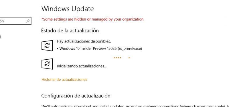 Build 15025 para Windows 10 PC disponible en el anillo rápido