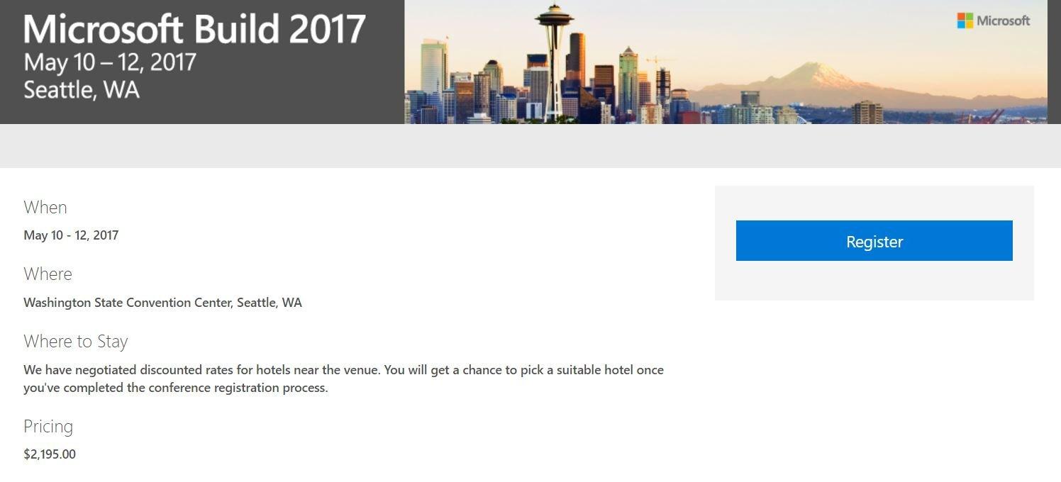 Abierto el registro para la Build 2017, ¡Corre que se acaban!