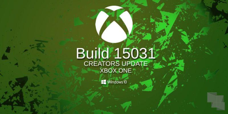 Xbox One Insider Preview recibe la Build 15031 en el anillo Alpha