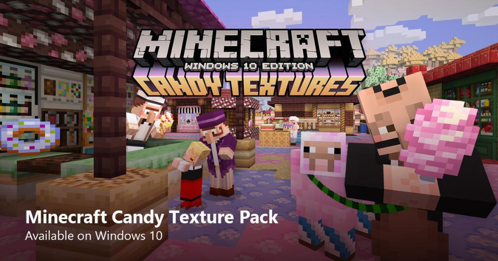 Minecraft Windows 10 Edition candy Pack