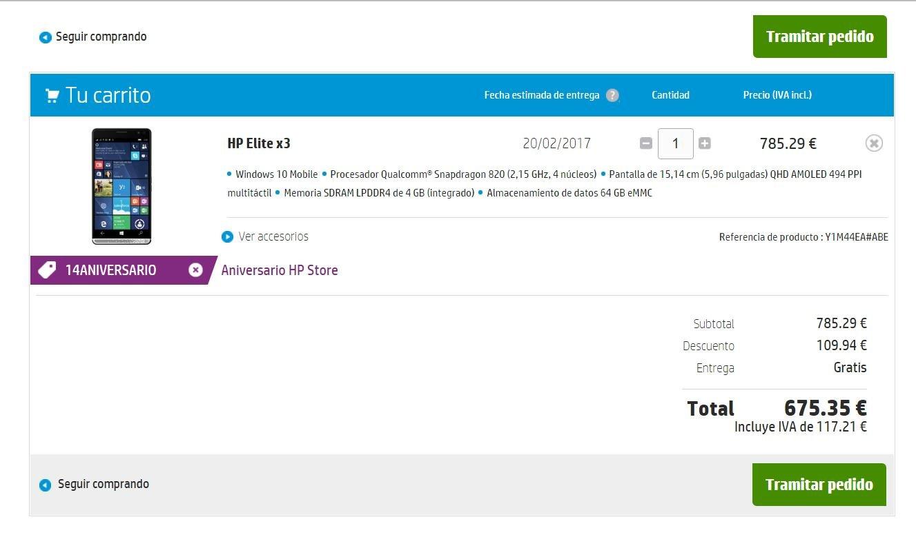 HP Store celebra su 14 aniversario y nos ofrece el Elite X3 por 675€