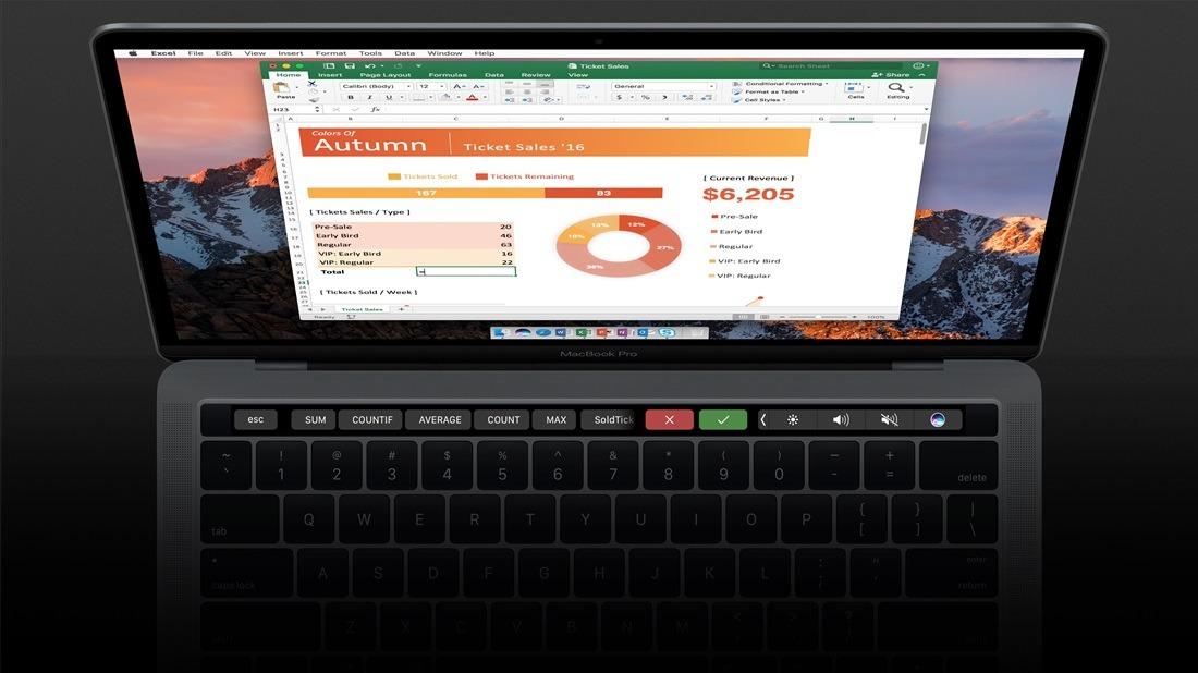 Office para Mac ya cuenta con soporte para Touch Bar