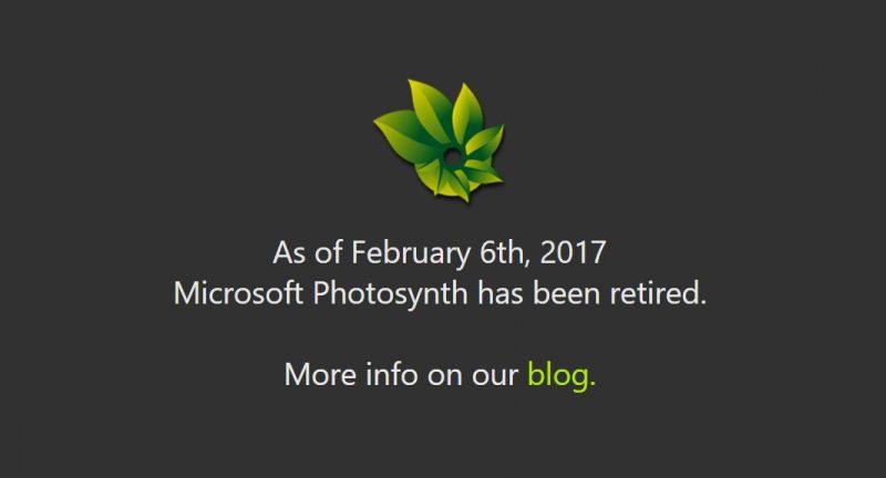 Tal y como se anunció, Photosynth ha finalizado sus servicios