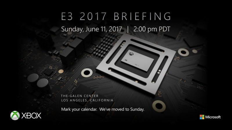 Microsoft llevará a cabo su keynote en el E3 2017 el 11 de Junio