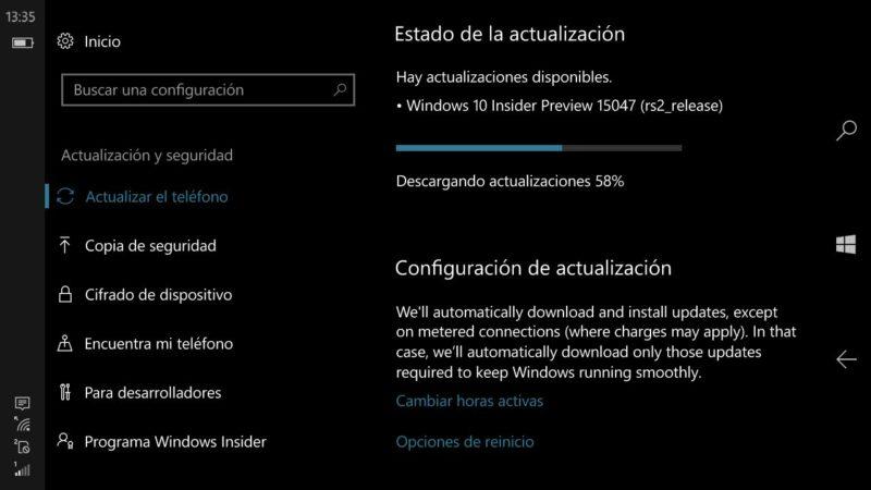Build 15047 de Windows 10 Mobile y Build 15048 de Windows 10 PC, ya disponibles en el anillo rápido