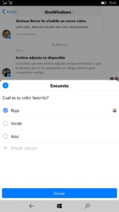 Facebook messenger encuestas 2