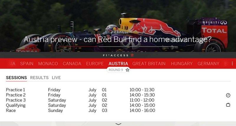 La aplicación oficial de la Formula 1 se prepara para la temporada 2017