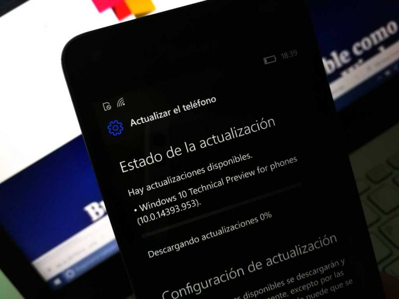 actualización para Creadores de Windows 10 Mobile