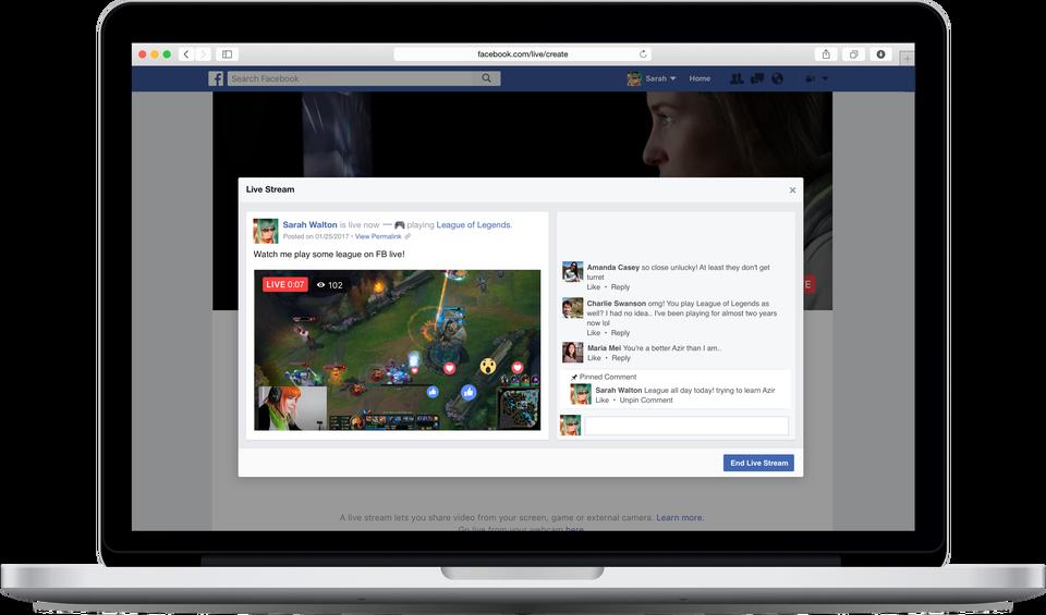 Ya puedes transmitir vídeos en directo desde Facebook en cualquier PC