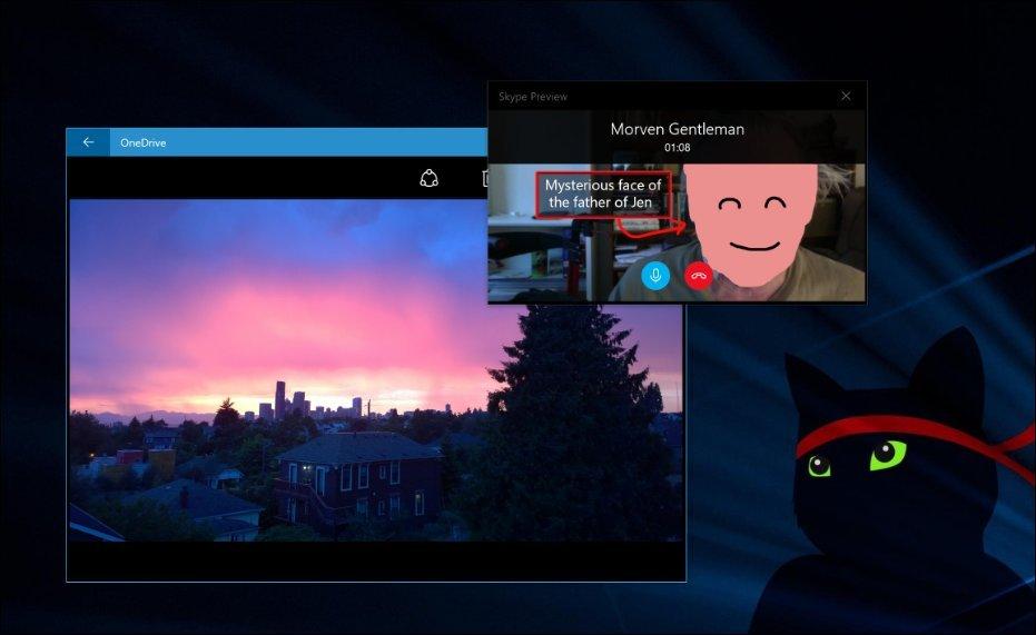 skype Compact Overlay