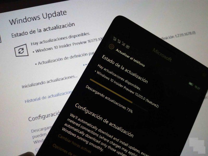 Build 16179 en PC y Build 15205 en móviles con Windows 10, ya disponibles en el anillo rápido del programa Insider