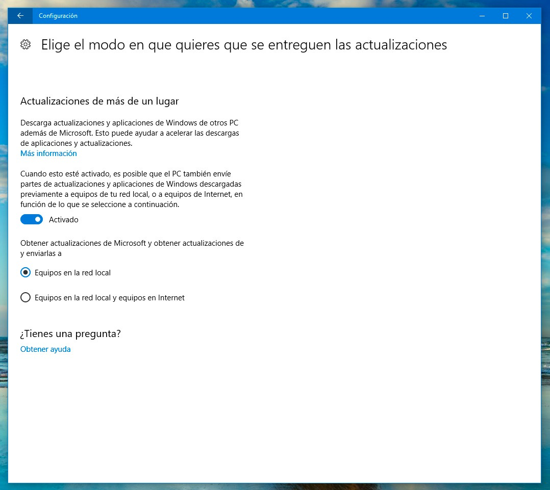 Todas las novedades de Windows Update en la Creators Update de Windows 10 PC