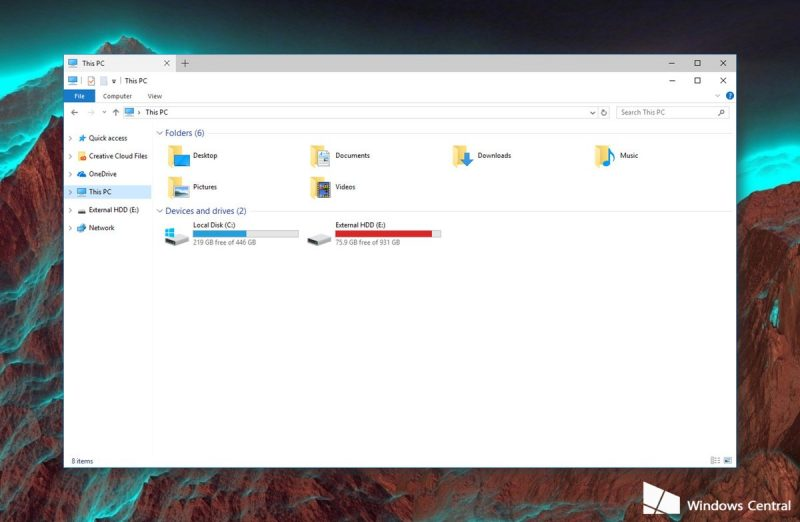 Microsoft ya está experimentando la interfaz de pestañas en Windows 10