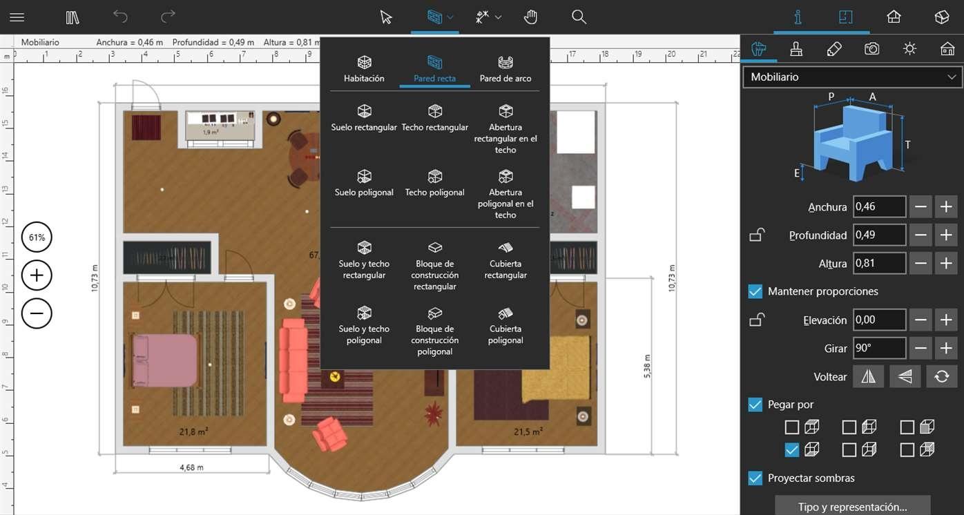 Live home 3d completa aplicaci n de dise o de interiores for Aplicacion para diseno de interiores 3d