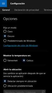MSN El tiempo se actualiza para los Insiders con soporte para tema oscuro