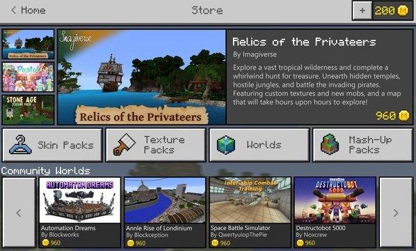 Microsoft anuncia que Minecraft tendrá su propia tienda virtual