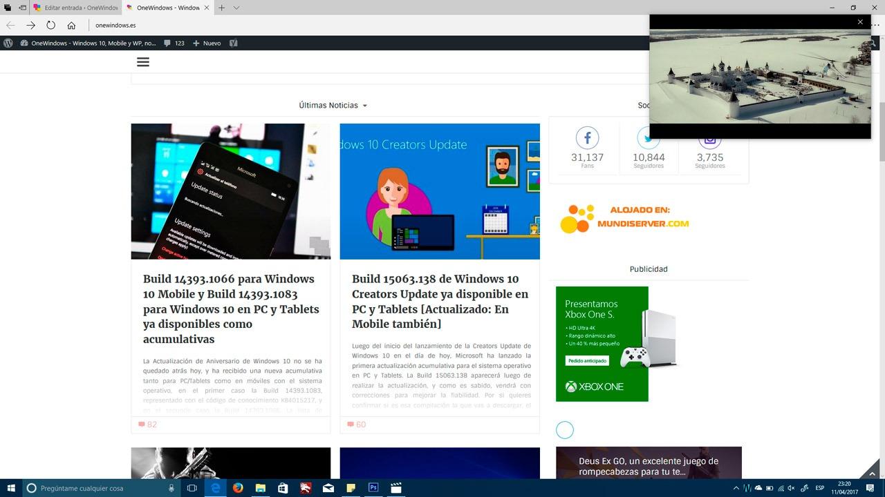 Todas las novedades del Menú Inicio y la Apariencia de Windows 10 Creators Update para PC