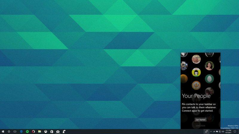 My People aparece en la Build 16170 de Windows 10 [Actualizado]