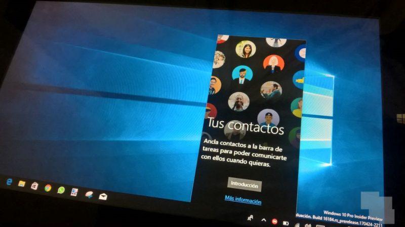 Así se ve MyPeople en la Build 16184 de Windows 10 en PC