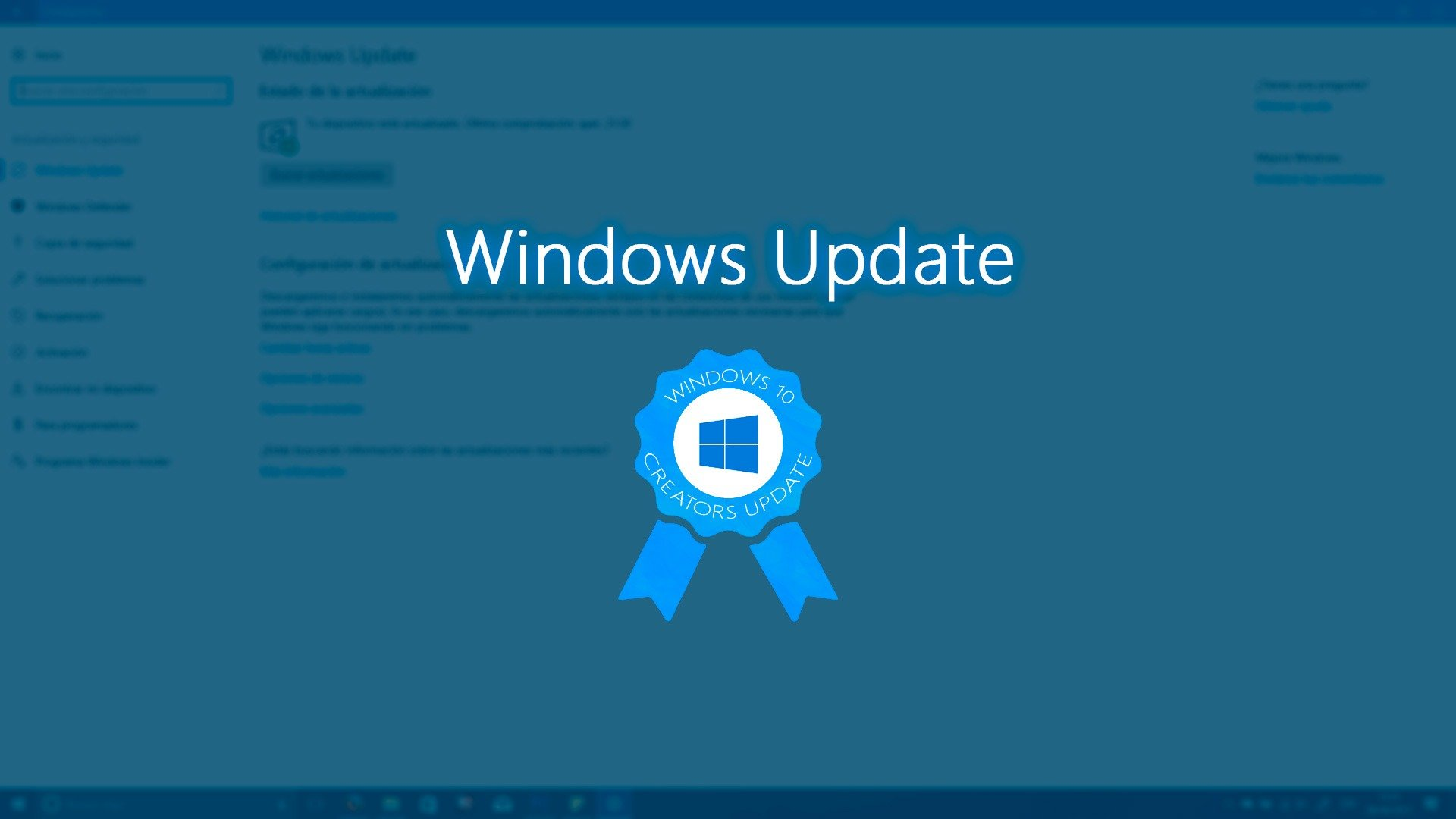 Windows update actualizaci n para creadores de windows 10 for Windows 10 update