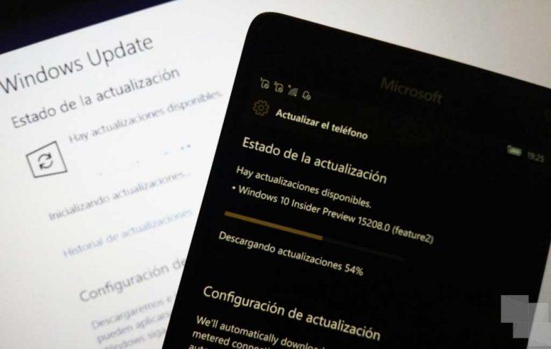 Build 16184 en PC y Build 15208 en móviles con Windows 10 ya disponible en el anillo rápido