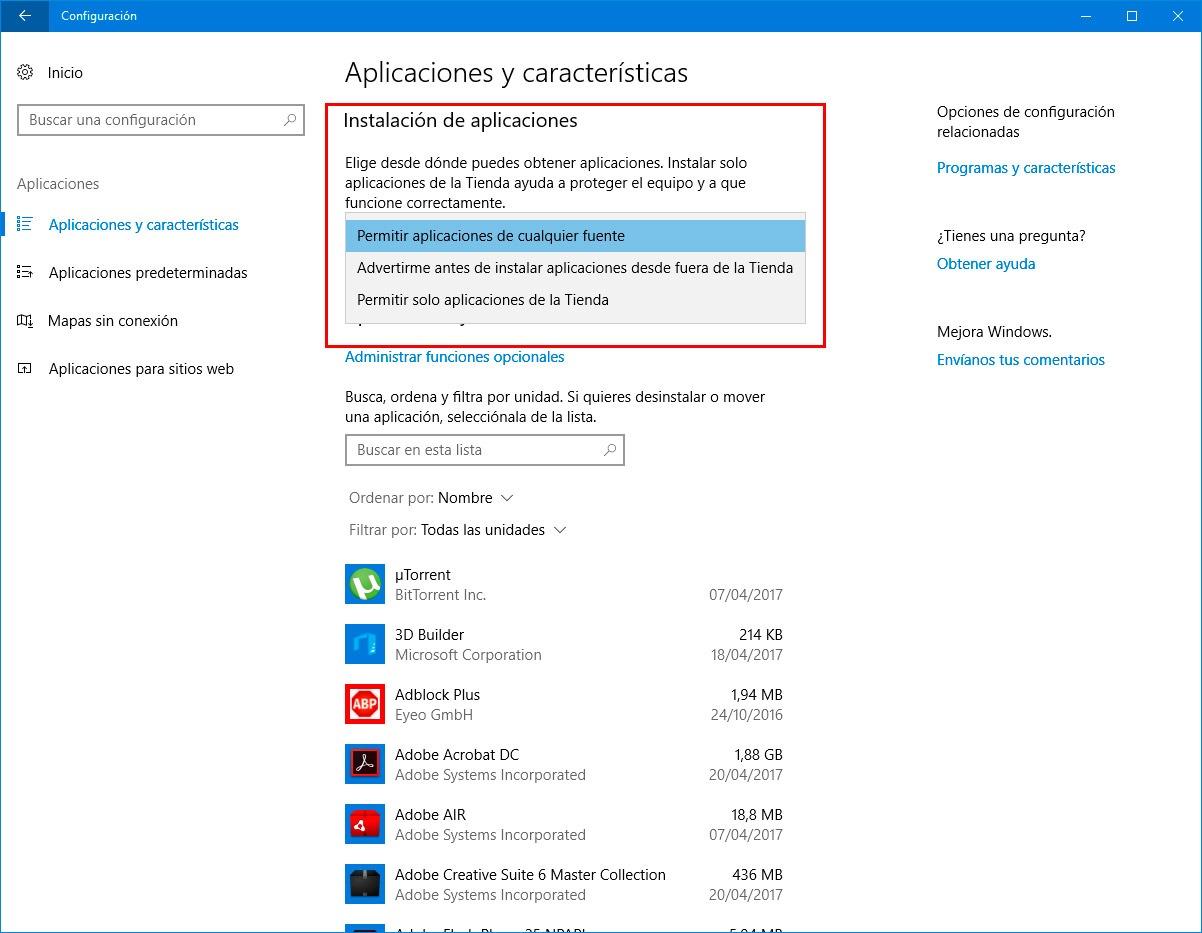 Todas las novedades de la aplicación de Configuración en la Creators Update de Windows 10