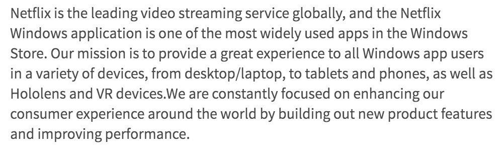 Netflix ofrecerá su contenido para la Realidad Mixta de Windows 10