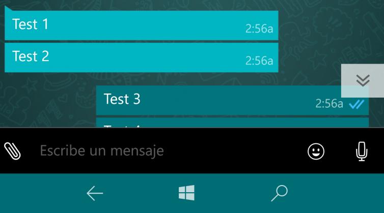 whatsapp beta ultimo mensaje